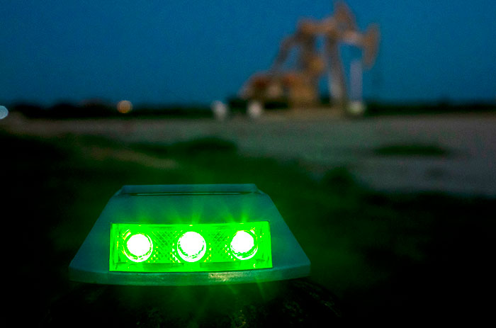 Green Light at Oil Field